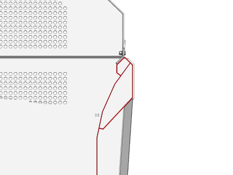 Bandeau supérieur de caisse renforcé hauteur 400 mm