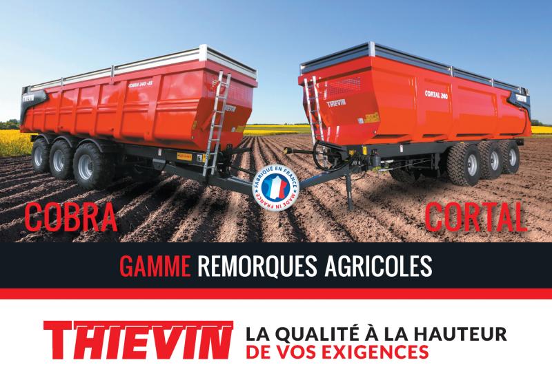 THIEVIN - Plaquette remorques agricoles COBRA et CORTAL
