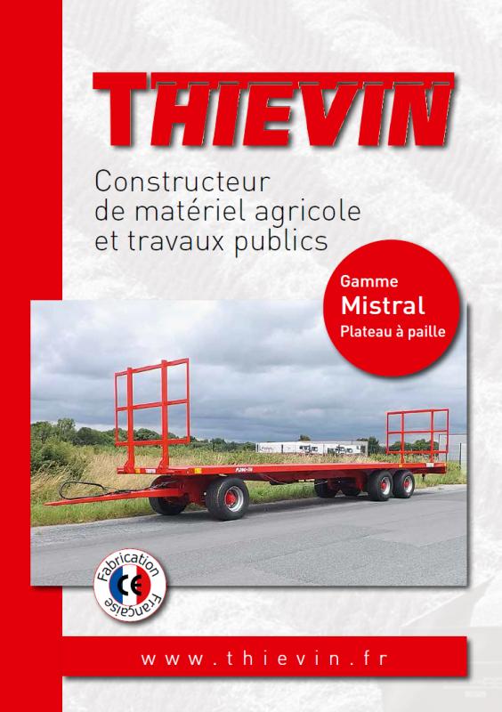 THIEVIN - Plaquette plateaux à paille MISTRAL