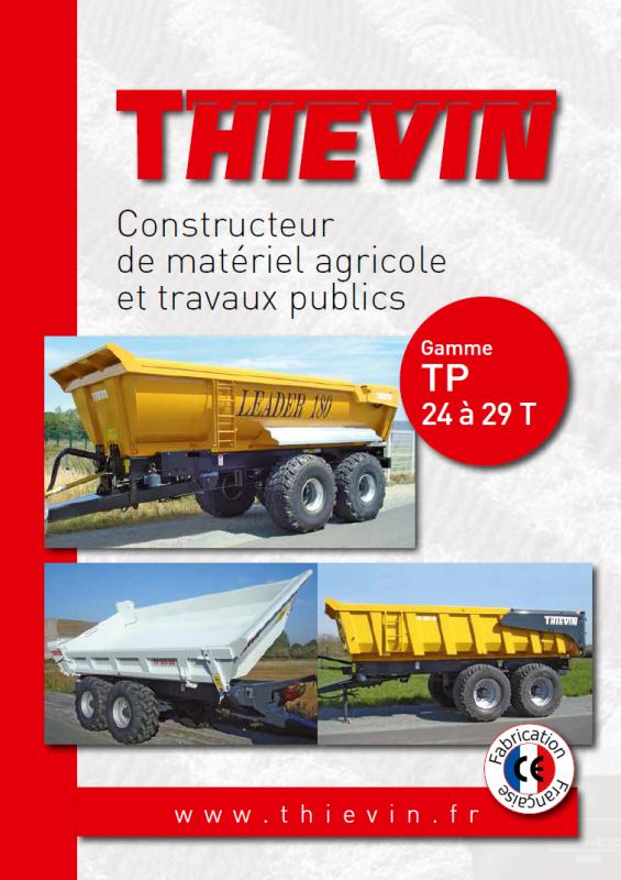 THIEVIN - Plaquette remorques travaux publics LEADER, MASTER et BIBENNE