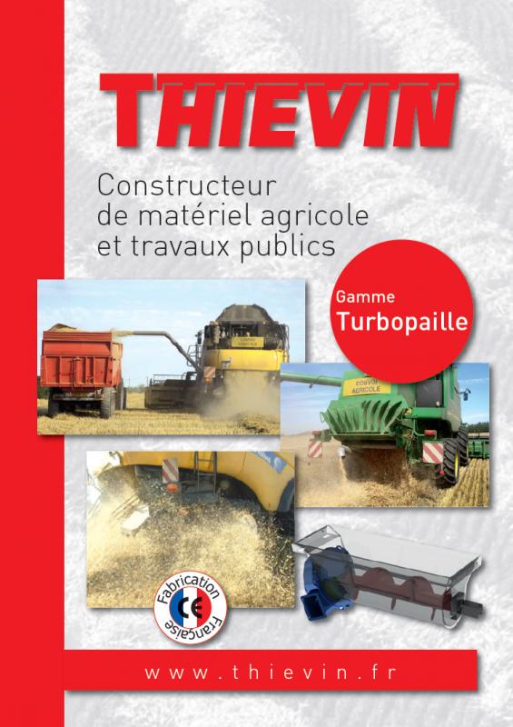 THIEVIN - Plaquette récupérateurs de menues pailles TURBOPAILLE