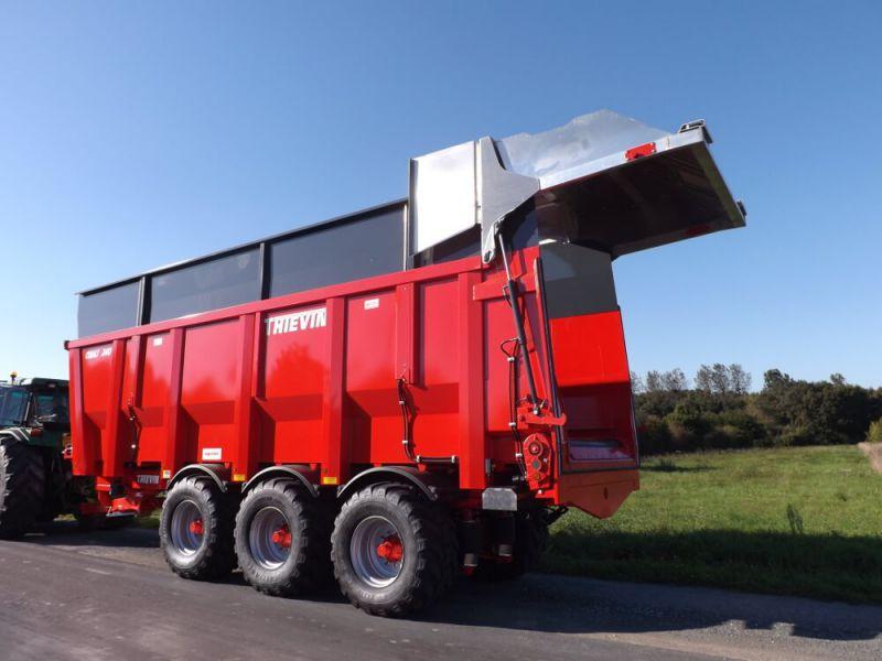 Thievin remorque agricole fond poussant mouvant cobalt 240 - Remorque porte outil agricole ...