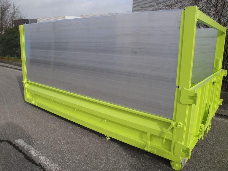 Caisson à ridelles rabattables Classe 1 longueur 3200 mm avec réhausses en aluminium